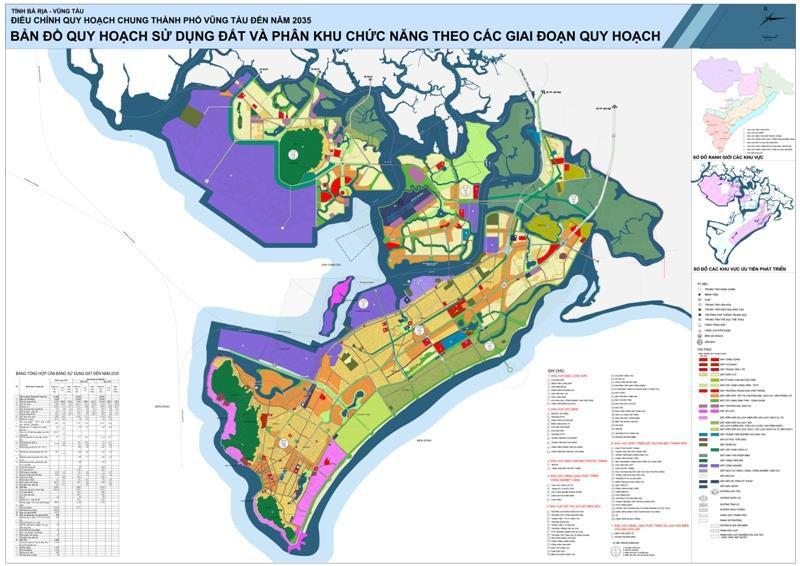 Bản đồ quy hoạch Thành phố Vũng Tàu